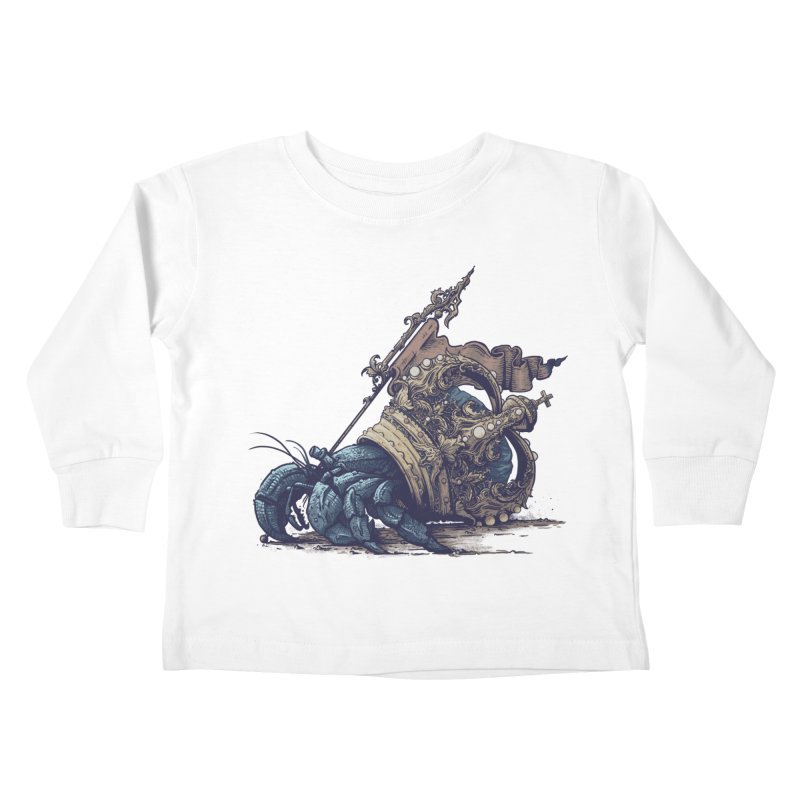 Hermit Kids Toddler Longsleeve T-Shirt by Alexhovey's Artist Shop