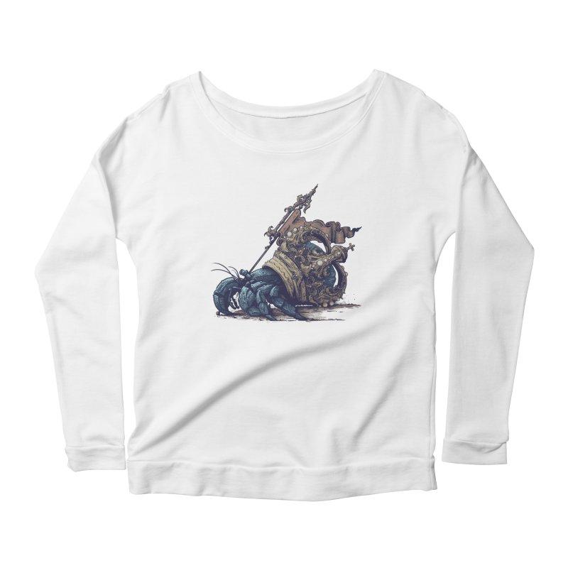 Hermit Women's Scoop Neck Longsleeve T-Shirt by Alexhovey's Artist Shop