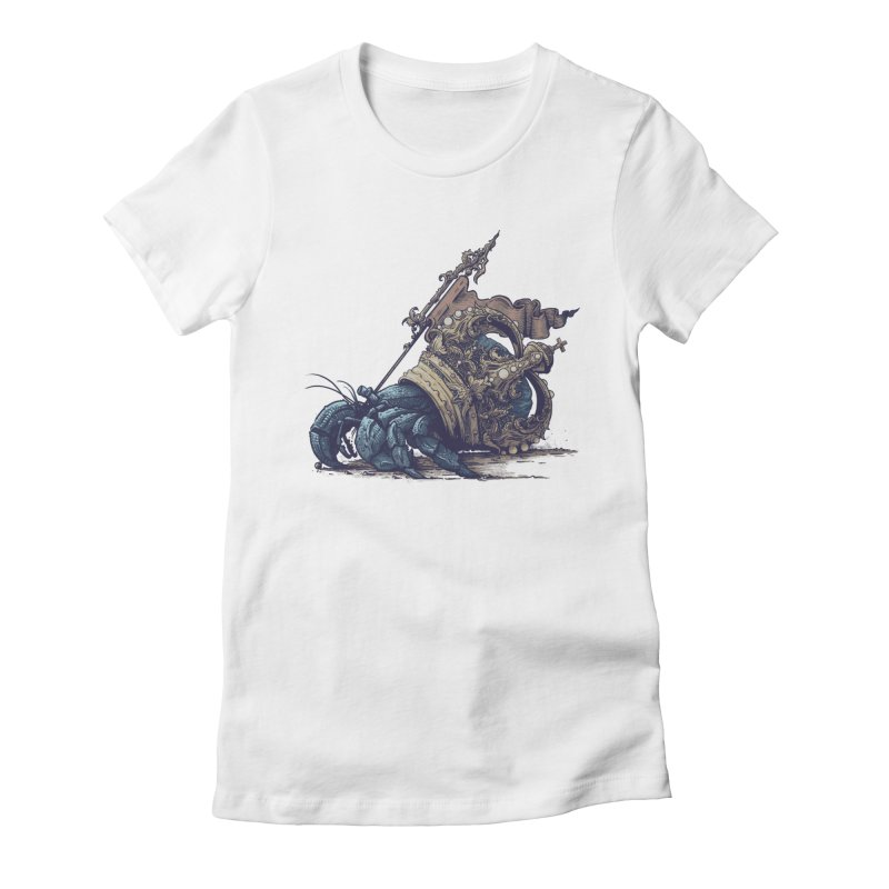 Hermit Women's Fitted T-Shirt by Alexhovey's Artist Shop
