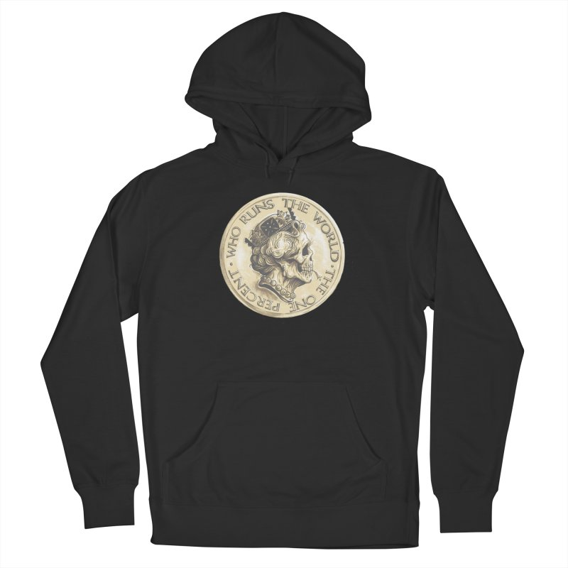 Every coin has two faces Men's French Terry Pullover Hoody by Alexhovey's Artist Shop