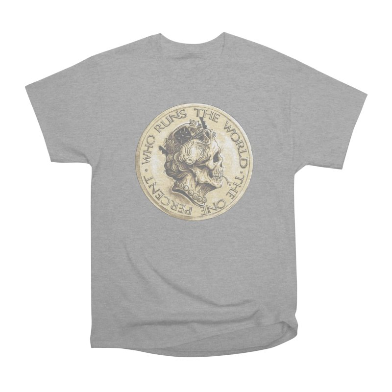 Every coin has two faces Men's Heavyweight T-Shirt by Alexhovey's Artist Shop