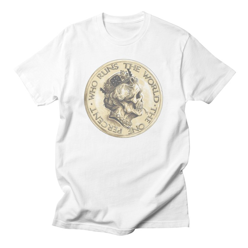 Every coin has two faces Men's Regular T-Shirt by Alexhovey's Artist Shop