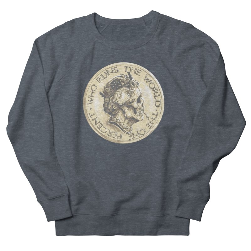Every coin has two faces Women's French Terry Sweatshirt by Alexhovey's Artist Shop