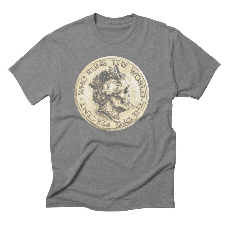 Every coin has two faces Men's Triblend T-Shirt by Alexhovey's Artist Shop