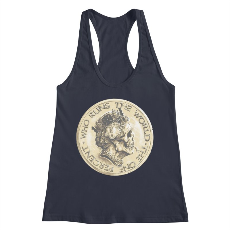 Every coin has two faces Women's Racerback Tank by Alexhovey's Artist Shop