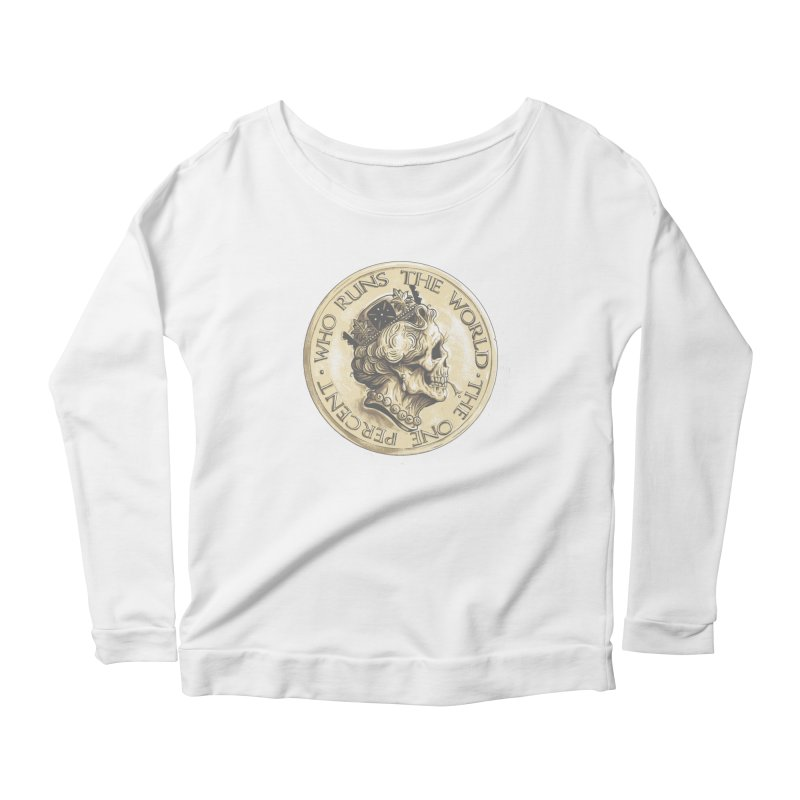Every coin has two faces Women's Scoop Neck Longsleeve T-Shirt by Alexhovey's Artist Shop