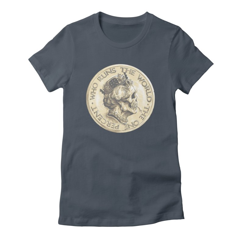 Every coin has two faces Women's Fitted T-Shirt by Alexhovey's Artist Shop