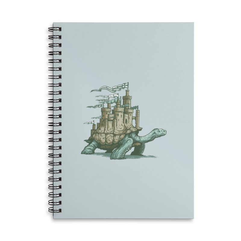 Slow and steady Accessories Lined Spiral Notebook by Alexhovey's Artist Shop