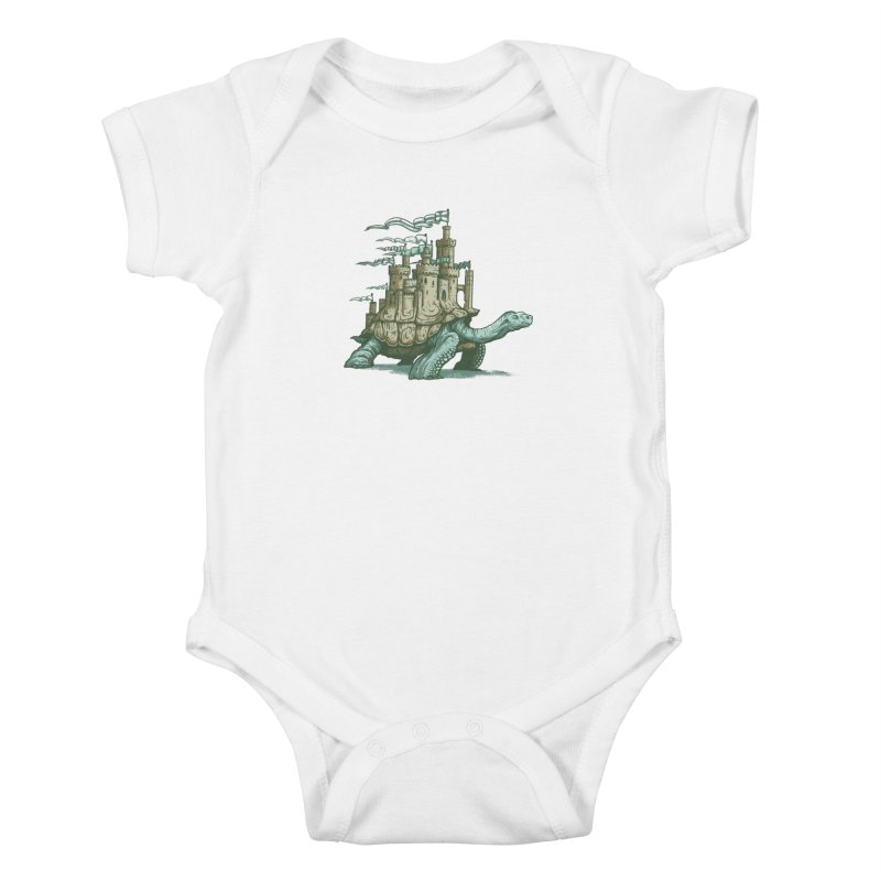 Slow and steady Kids Baby Bodysuit by Alexhovey's Artist Shop