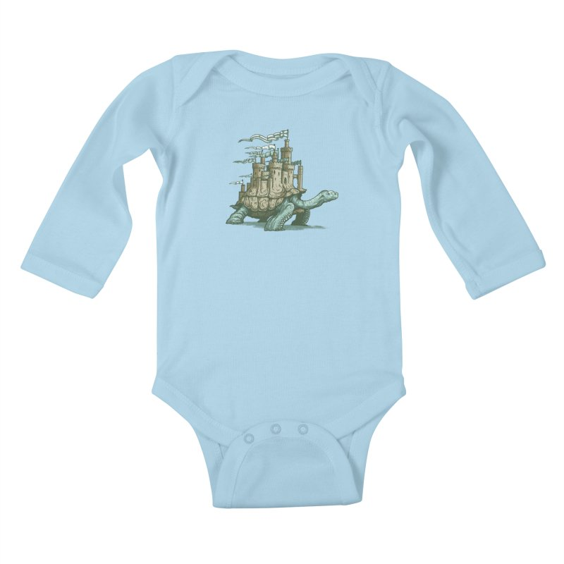 Slow and steady Kids Baby Longsleeve Bodysuit by Alexhovey's Artist Shop