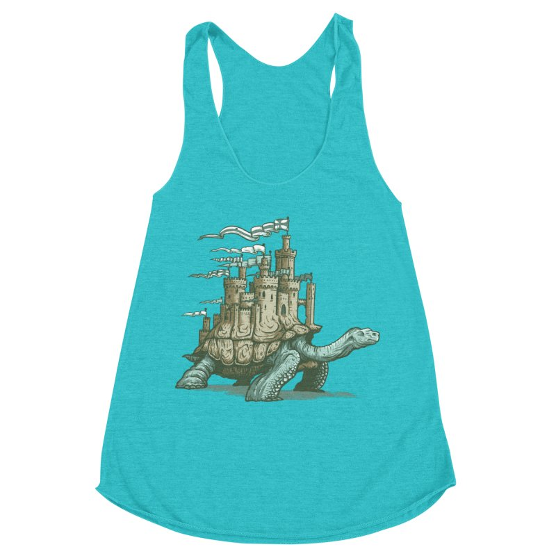 Slow and steady Women's Racerback Triblend Tank by Alexhovey's Artist Shop