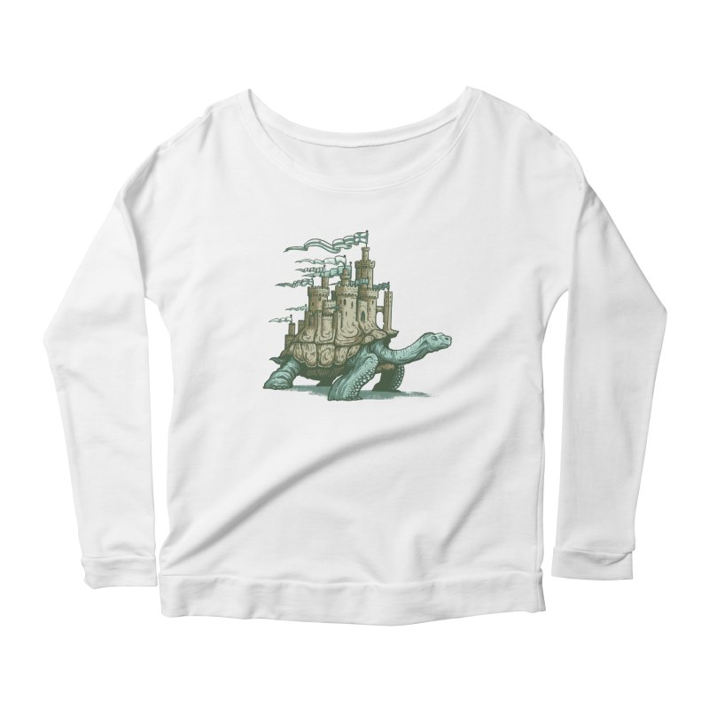 Slow and steady Women's Scoop Neck Longsleeve T-Shirt by Alexhovey's Artist Shop