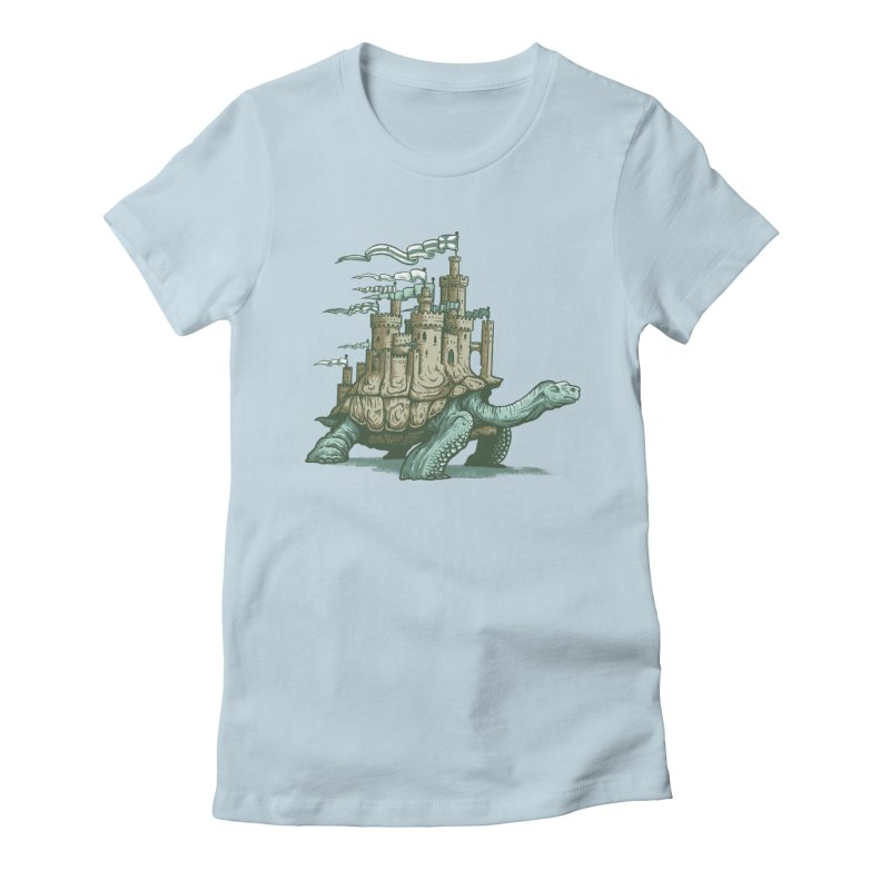Slow and steady Women's Fitted T-Shirt by Alexhovey's Artist Shop