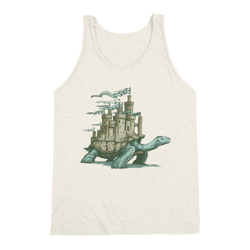 Slow and steady Men's Triblend Tank by Alexhovey's Artist Shop
