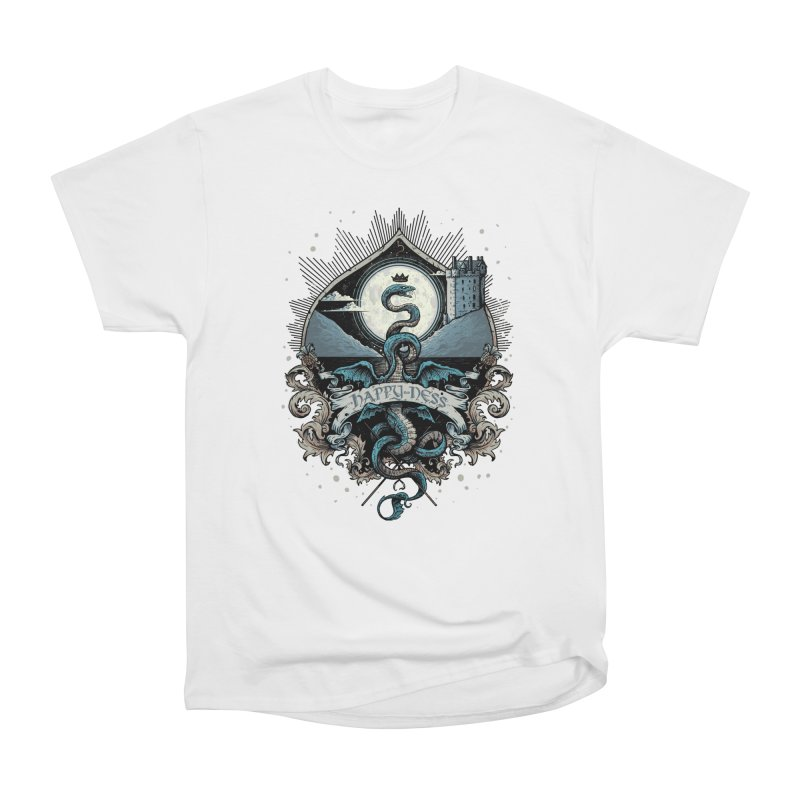 Happy Ness Women's Heavyweight Unisex T-Shirt by Alexhovey's Artist Shop