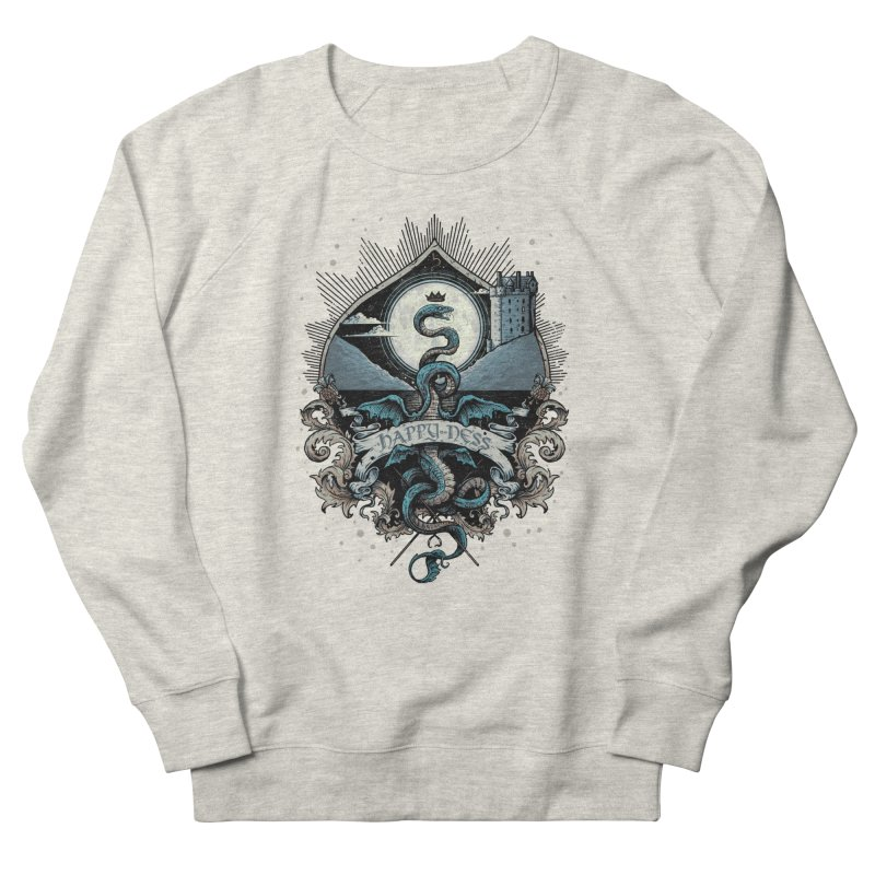 Happy Ness Women's French Terry Sweatshirt by Alexhovey's Artist Shop