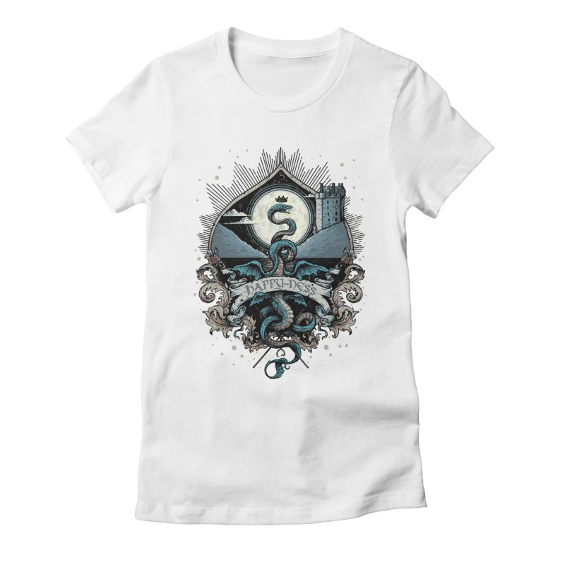 Happy Ness Women's Fitted T-Shirt by Alexhovey's Artist Shop