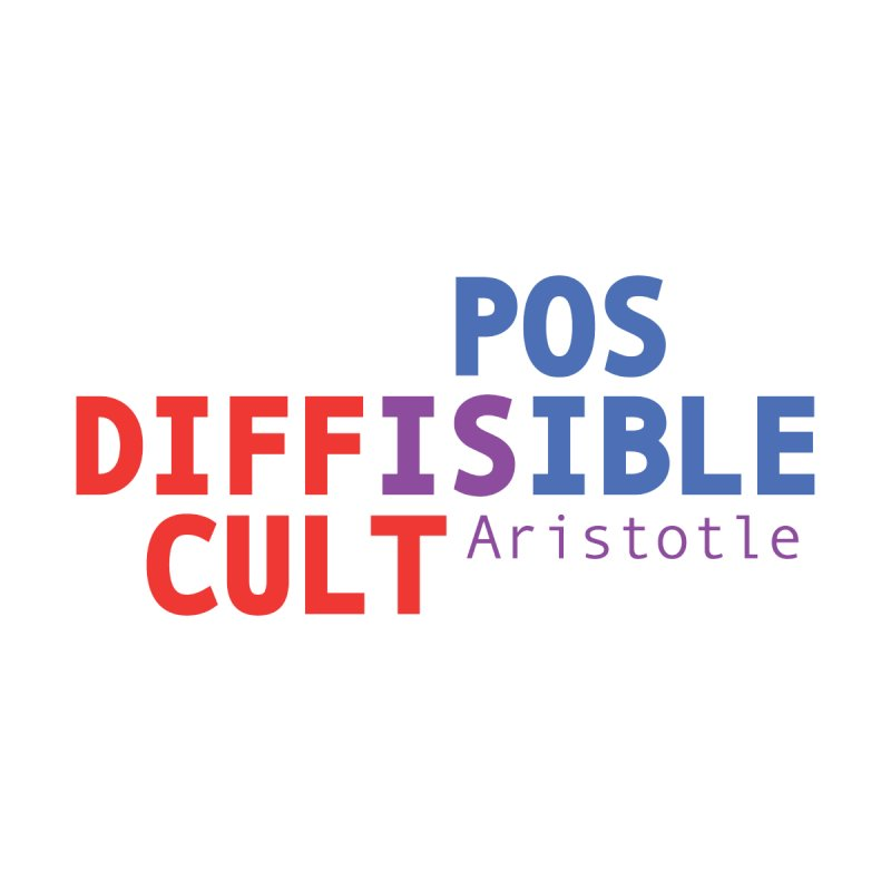 """Difficult is possible"" Aristotle by Alice Hampton Dickerson"
