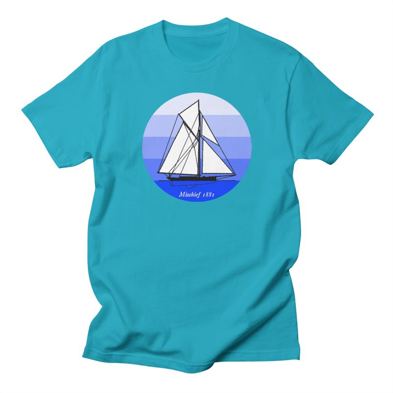 Mischief in Men's Regular T-Shirt Cyan by Sailor James
