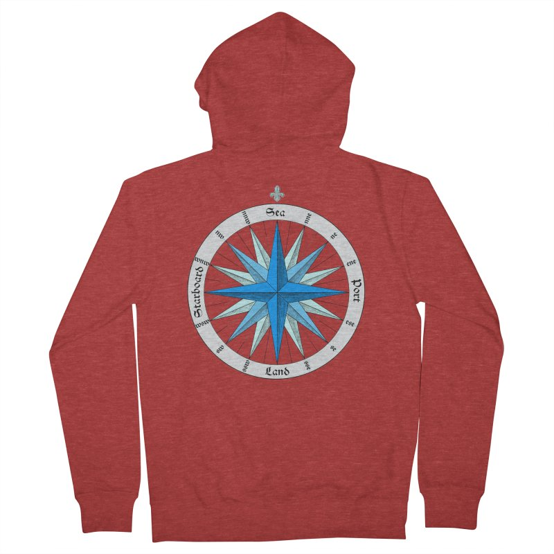 Onshore... Head in the Sea Women's French Terry Zip-Up Hoody by Sailor James