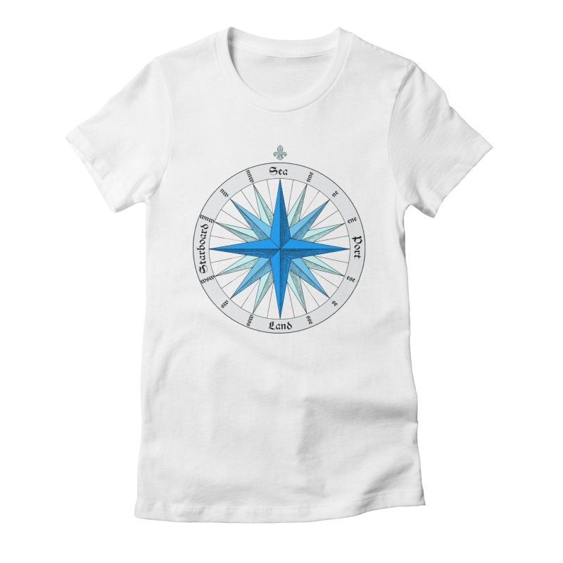 Onshore... Head in the Sea Women's Fitted T-Shirt by Sailor James