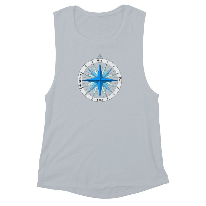 Onshore... Head in the Sea Women's Muscle Tank by Sailor James