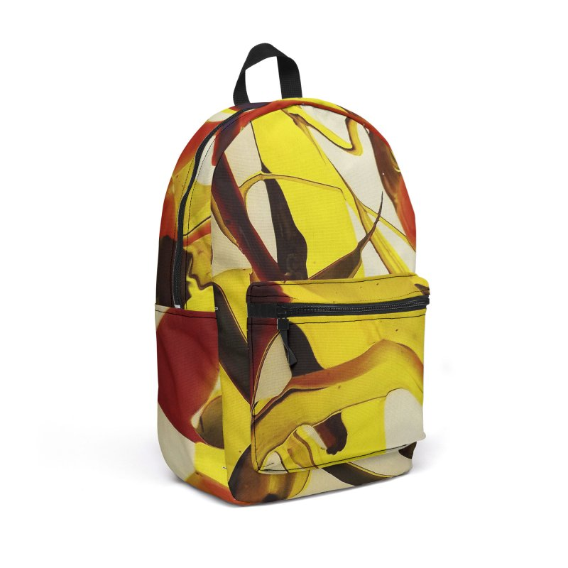 Yellow Dive Accessories Backpack Bag by AlmaT's Artist Shop