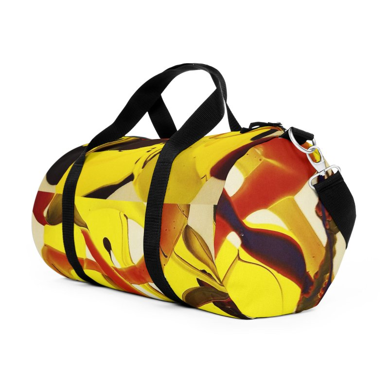 Yellow Dive Accessories Duffel Bag Bag by AlmaT's Artist Shop