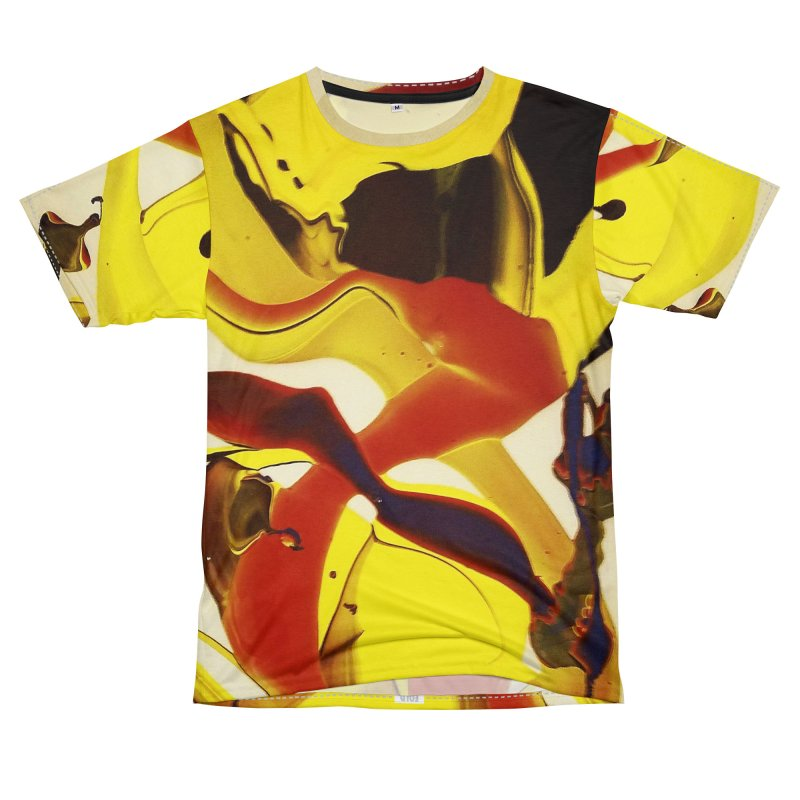 Yellow Dive Women's Unisex T-Shirt Cut & Sew by AlmaT's Artist Shop