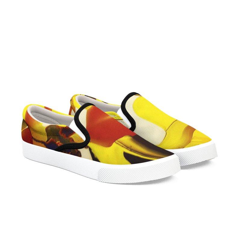 Yellow Dive Women's Slip-On Shoes by AlmaT's Artist Shop