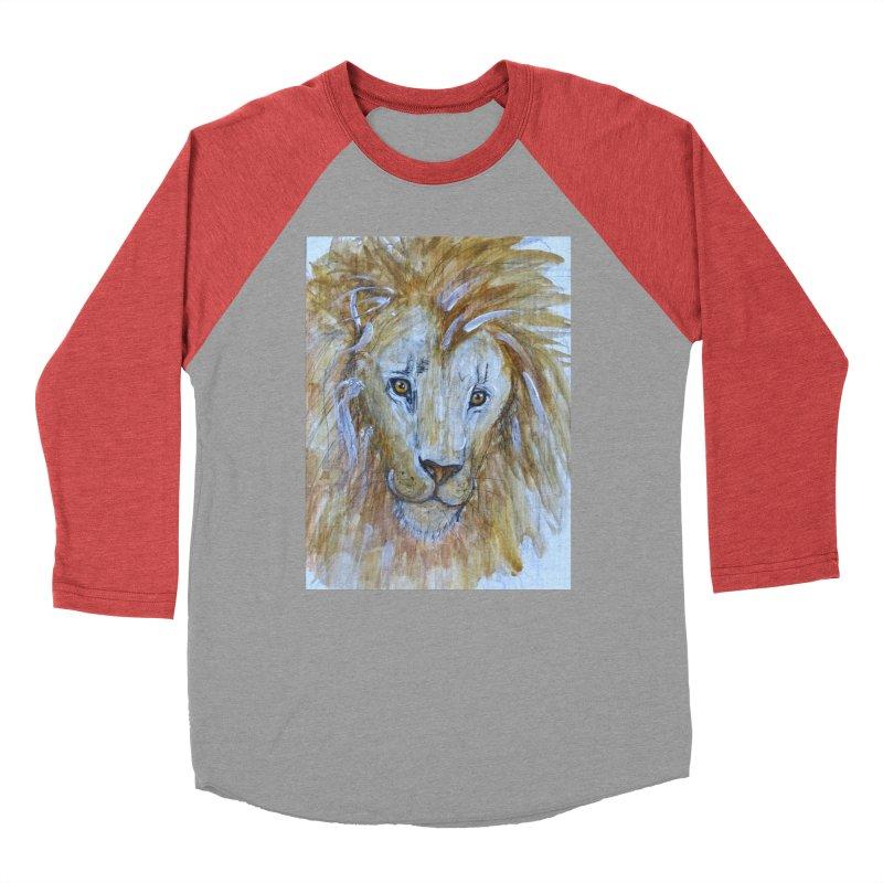 Lion Men's Baseball Triblend Longsleeve T-Shirt by AlmaT's Artist Shop