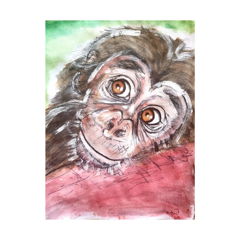 Baby Chimpanzee by AlmaT's Artist Shop