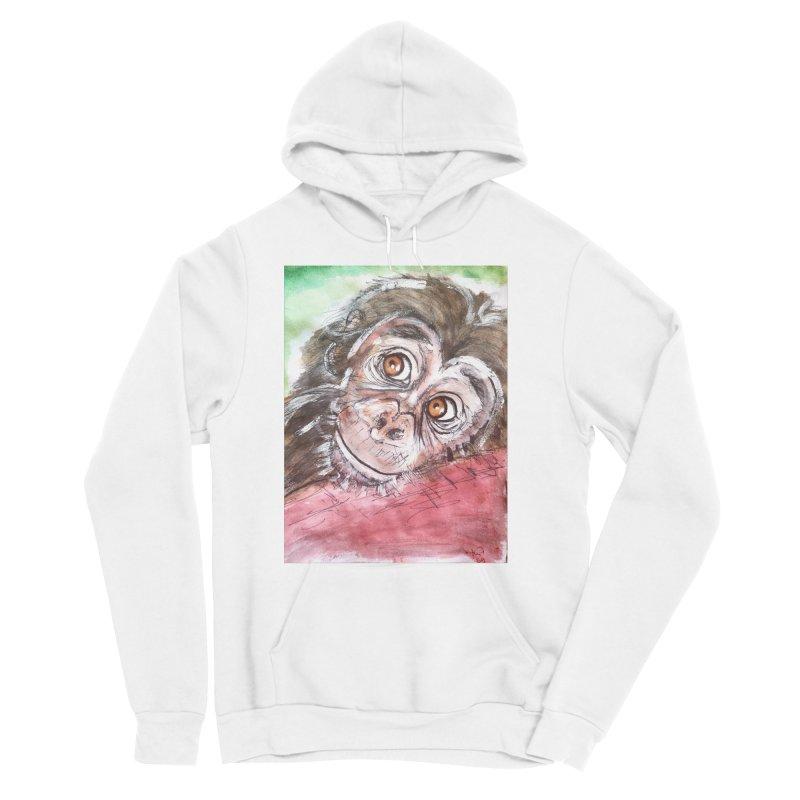 Baby Chimpanzee Women's Sponge Fleece Pullover Hoody by AlmaT's Artist Shop