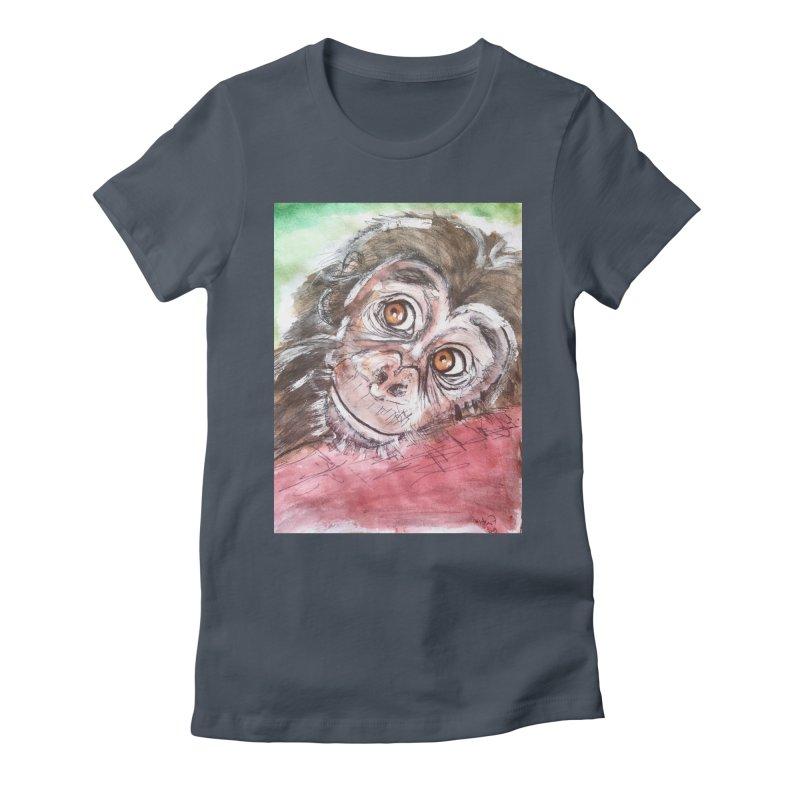Baby Chimpanzee Women's T-Shirt by AlmaT's Artist Shop