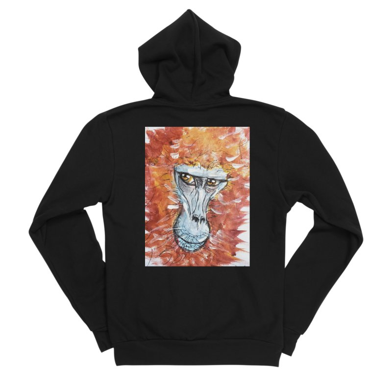 Gelada Monkey Women's Sponge Fleece Zip-Up Hoody by AlmaT's Artist Shop