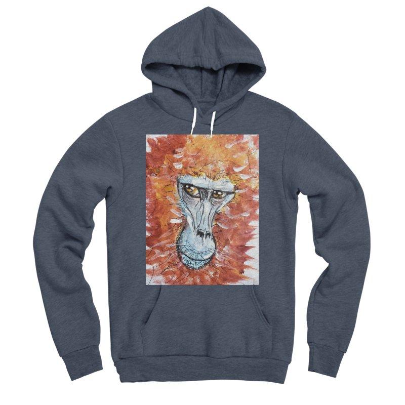 Gelada Monkey Women's Sponge Fleece Pullover Hoody by AlmaT's Artist Shop