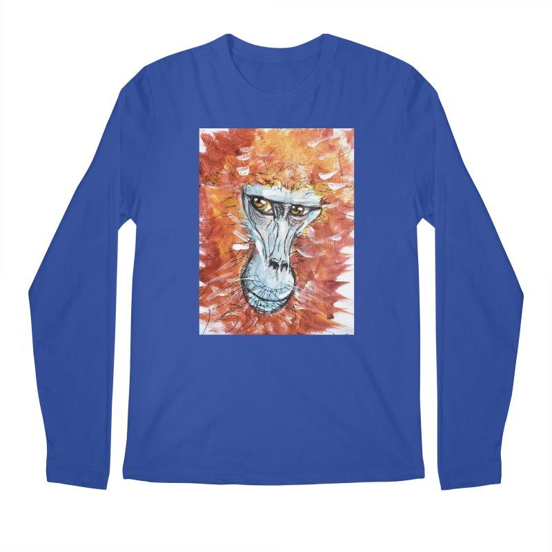Gelada Monkey Men's Regular Longsleeve T-Shirt by AlmaT's Artist Shop
