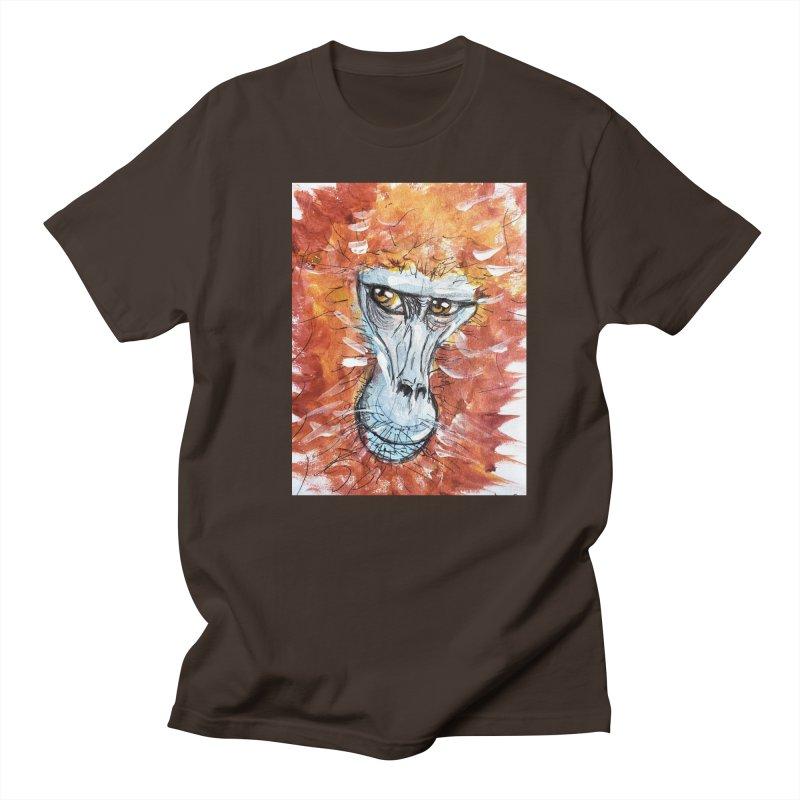 Gelada Monkey Men's Regular T-Shirt by AlmaT's Artist Shop