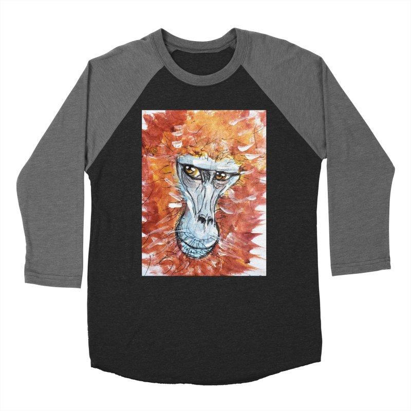 Gelada Monkey Men's Baseball Triblend Longsleeve T-Shirt by AlmaT's Artist Shop