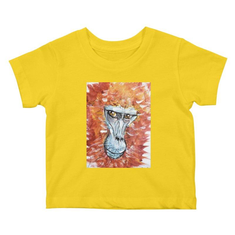 Gelada Monkey Kids Baby T-Shirt by AlmaT's Artist Shop
