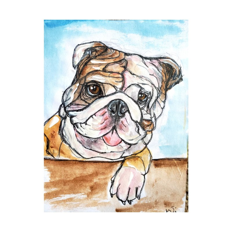 Bulldog Men's T-Shirt by AlmaT's Artist Shop