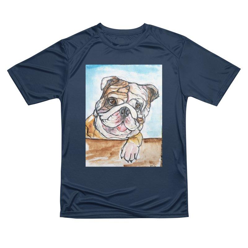 Bulldog Women's Performance Unisex T-Shirt by AlmaT's Artist Shop