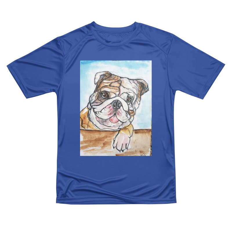 Bulldog Men's Performance T-Shirt by AlmaT's Artist Shop
