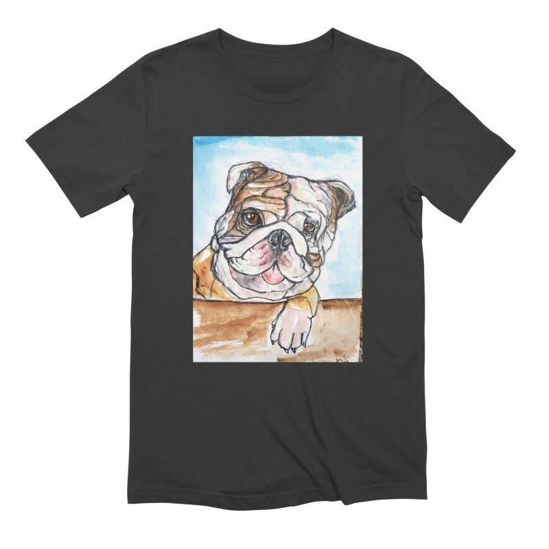 Bulldog Men's Extra Soft T-Shirt by AlmaT's Artist Shop
