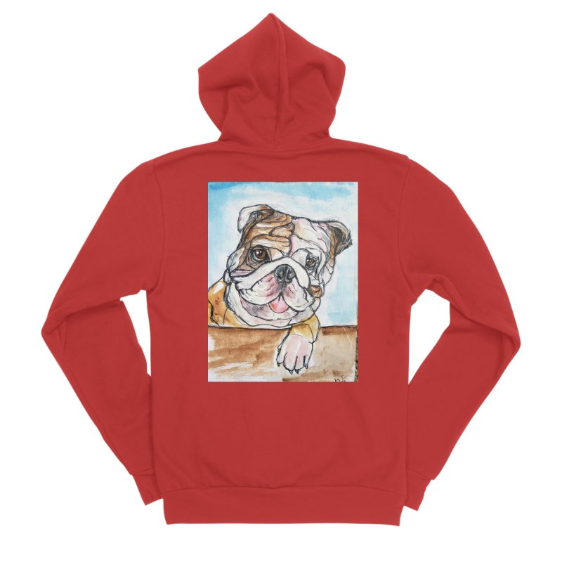 Bulldog Women's Sponge Fleece Zip-Up Hoody by AlmaT's Artist Shop