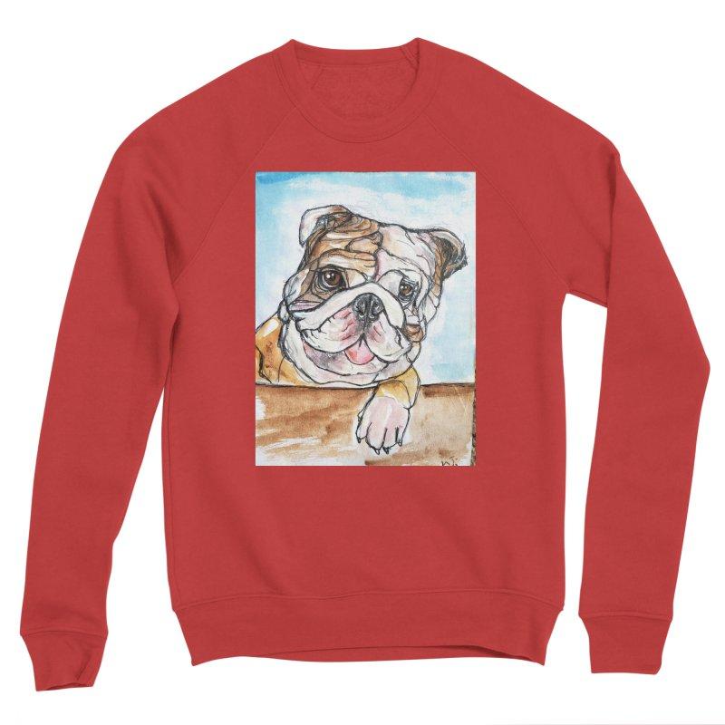 Bulldog Women's Sponge Fleece Sweatshirt by AlmaT's Artist Shop