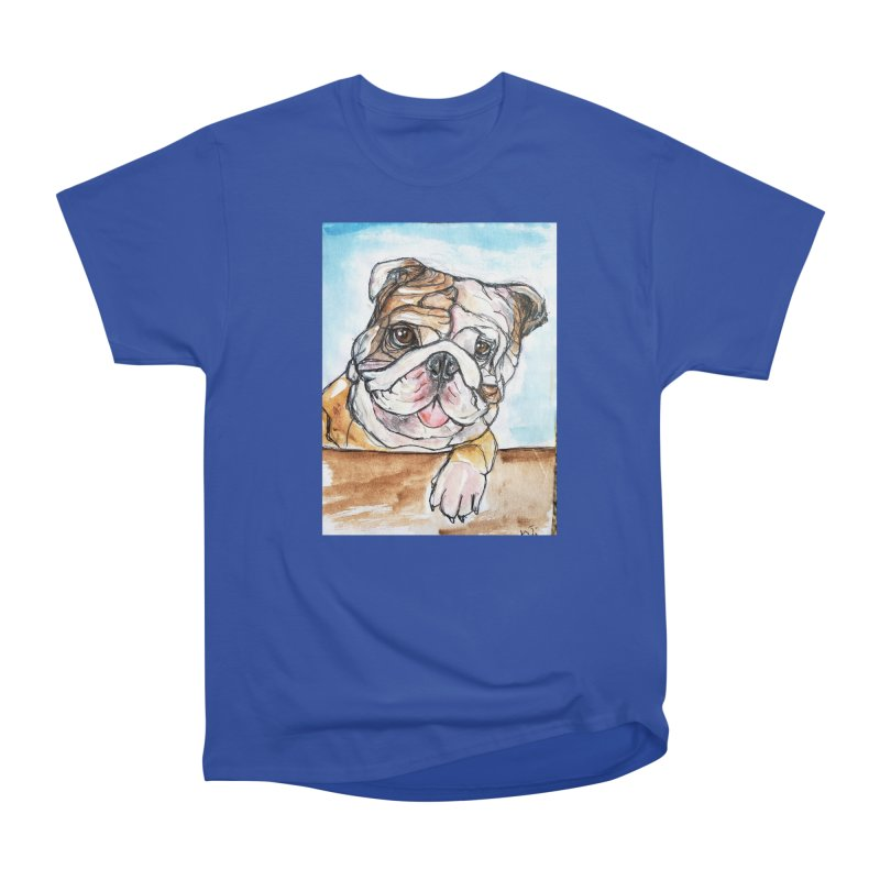 Bulldog Women's Heavyweight Unisex T-Shirt by AlmaT's Artist Shop