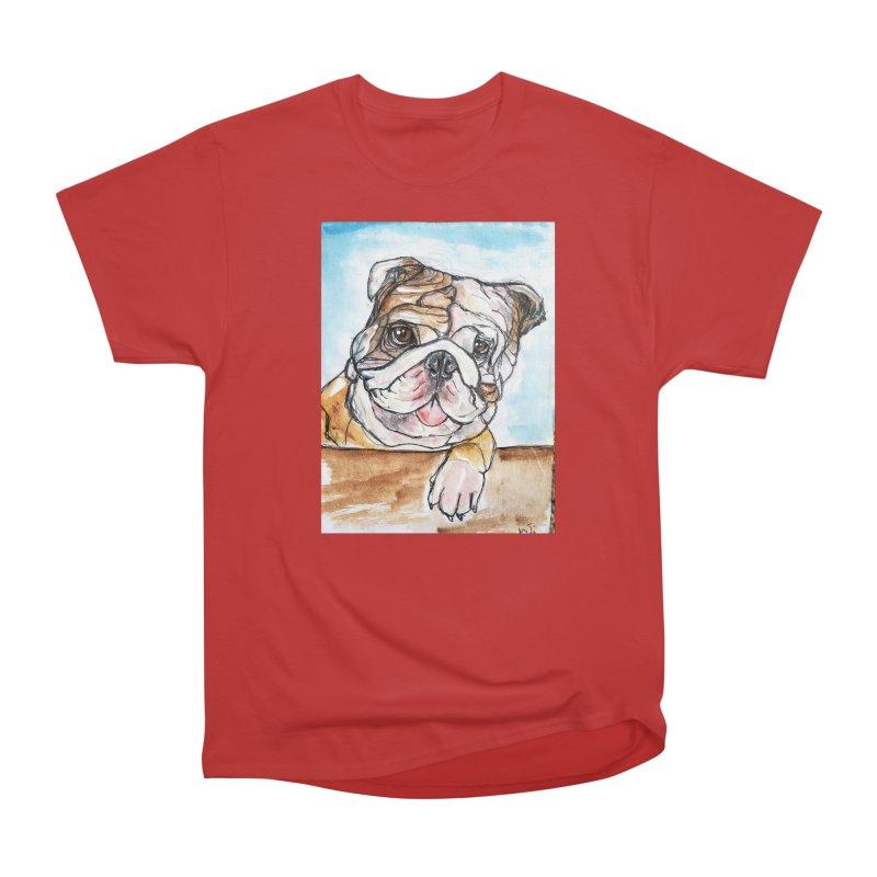 Bulldog Men's Heavyweight T-Shirt by AlmaT's Artist Shop