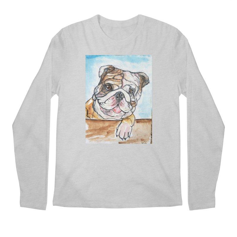 Bulldog Men's Regular Longsleeve T-Shirt by AlmaT's Artist Shop