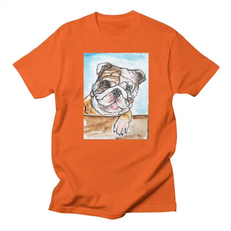 Bulldog Men's Regular T-Shirt by AlmaT's Artist Shop